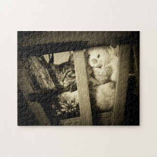 Look over there Cat and Bear Puzzle
