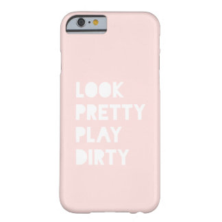 Look Pretty Modern Quote Blush Pink Pretty iPhone 6 Case