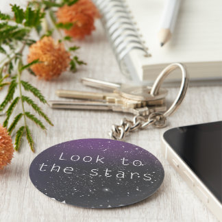 Look to the stars keychain