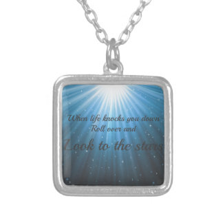 Look to the stars silver plated necklace
