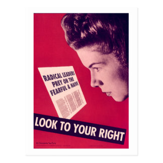 Look to Your Right Postcard