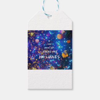 Look up and you see the wonder surrounds us gift tags