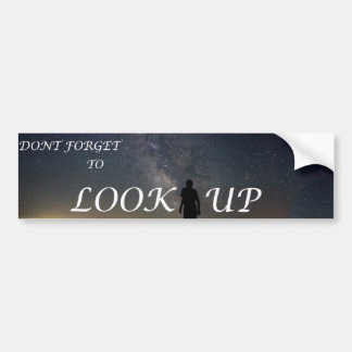 LOOK UP, Space Bumper Sticker
