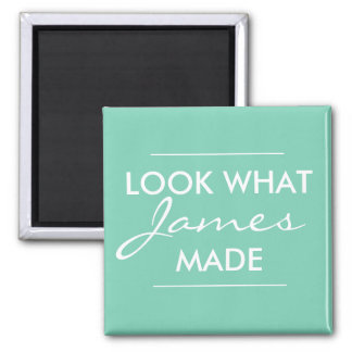 Look what your child made... square magnet