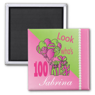 Look Who's 100 | 100th Birthday Square Magnet