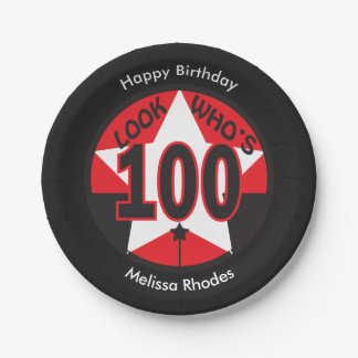 Look Who's 100 Years Old | 100th Birthday 7 Inch Paper Plate