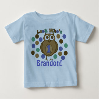 Look Who's 1 Owl First Birthday Shirt
