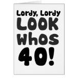 Look whos 40 years old note card