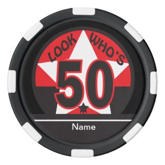 Look Who's 50 | 50th Birthday Poker Chips Set