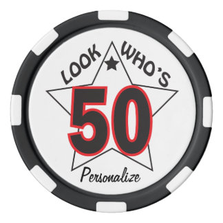 Look Who's 50 | 50th Birthday Set Of Poker Chips