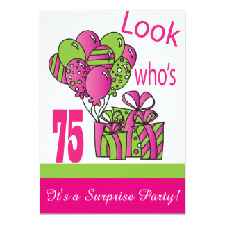 Look Who's 75   75th Birthday Card