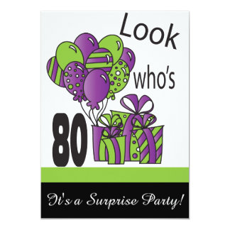 Look Who's 80 | 80th Birthday Card