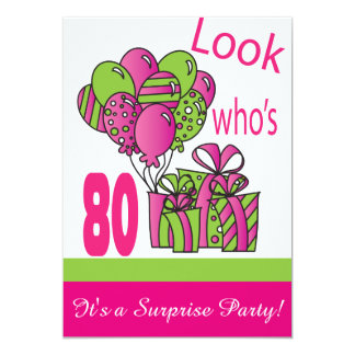 Look Who's 80   80th Birthday Card