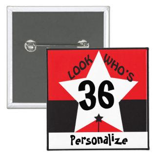 Look Who's ( DIY Age & Name ) | Birthday 15 Cm Square Badge