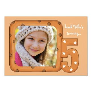 Look Who's Turning 5 - Photo Birthday Party Invita 13 Cm X 18 Cm Invitation Card