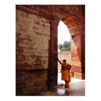 looking at india postcard