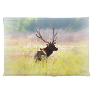 """Looking Back"" Elk Placemat"