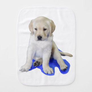 Looking Down Labrador Puppy Burp Cloth