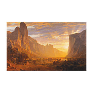 Looking Down Yosemite Valley, by Albert Bierstadt Canvas Print