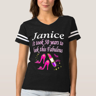 LOOKING FABULOUS 50TH BIRTHDAY PERSONALIZED TEES