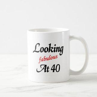 Looking Fabulous at 40 Basic White Mug