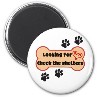 Looking for love? 6 cm round magnet