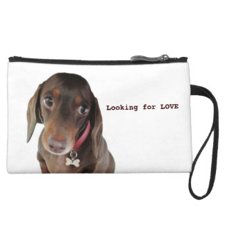 Looking for LOVE dachshund clutch bag Wristlet Clutches