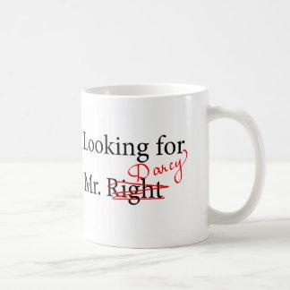 Looking for Mr Darcy Basic White Mug