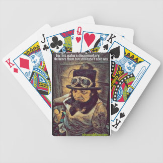 looking for rats. bicycle playing cards
