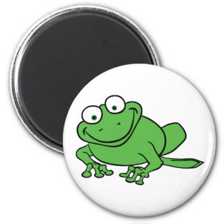 Looking Frog 6 Cm Round Magnet