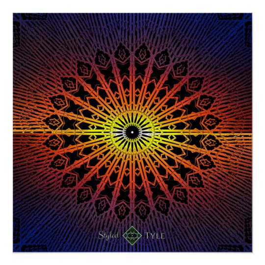 Looking Glass Mandala ( Rainbow ) Poster