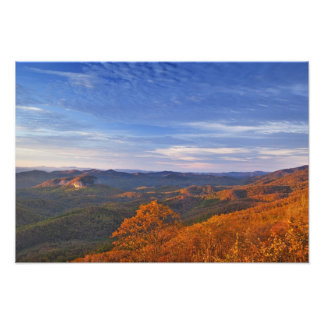 Looking Glass Rock at sunrise in the Pisgah Photograph