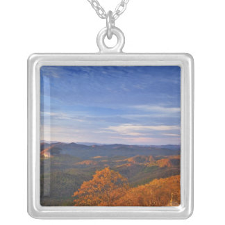 Looking Glass Rock at sunrise in the Pisgah Square Pendant Necklace