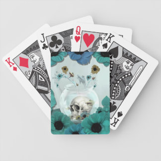 Looking glass, skull in fish bowl deck of cards
