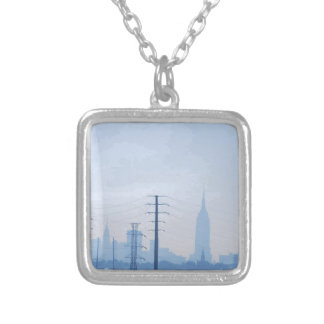 Looking In Silver Plated Necklace