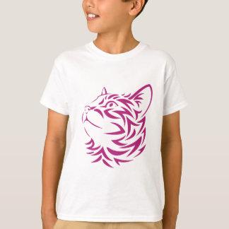 Looking Left Cat Kitten Face Stencil T-Shirt