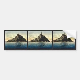 Looking northeast at high water, Mont St. Michel, Bumper Sticker