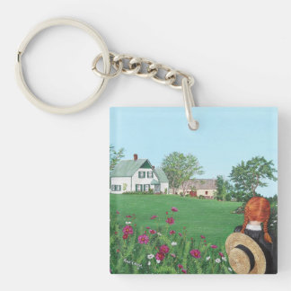 Looking on with Love, Anne of Green Gables, PEI Double-Sided Square Acrylic Key Ring
