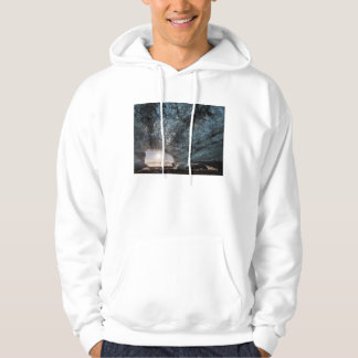 Looking out an ice cave, Iceland Hoodie
