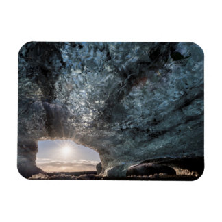 Looking out an ice cave, Iceland Rectangular Photo Magnet