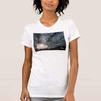 Looking out an ice cave, Iceland T-Shirt