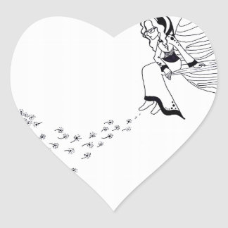 Looking Out Heart Sticker