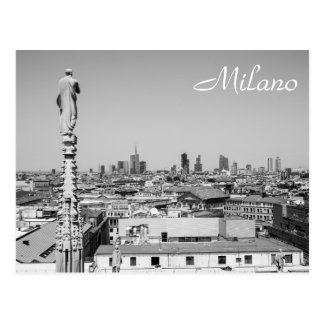 Looking out on Milano Postcard