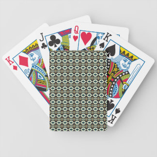 Looking over four-leaf clover pattern bicycle playing cards