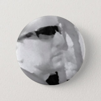 Looking Right CharcholSMALL 6 Cm Round Badge