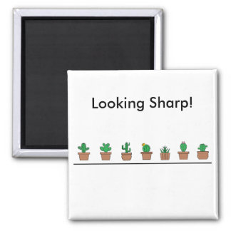 Looking Sharp 5.1 Cm Square Magnet