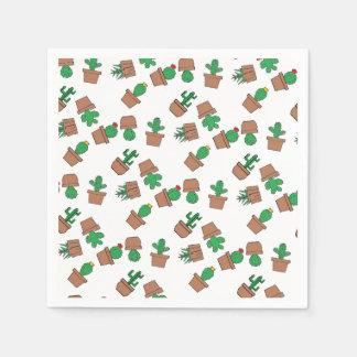Looking Sharp Cacti Cocktail Paper Napkins Disposable Serviette