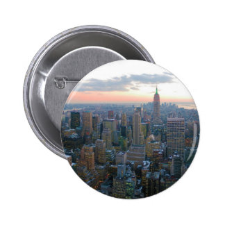Looking South from Top of the Rock New York City 6 Cm Round Badge