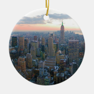 Looking South from Top of the Rock New York City Ceramic Ornament