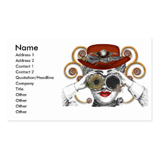 looking steampunked steampunk dude business card templates